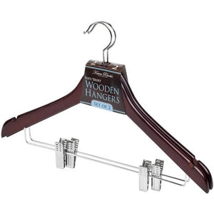 Simplify 2-Pack Mahogany Suit Hangers