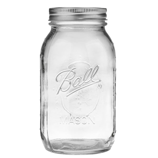 Ball, Glass Mason Jars with Lids & Bands, Regular Mouth, 32 oz