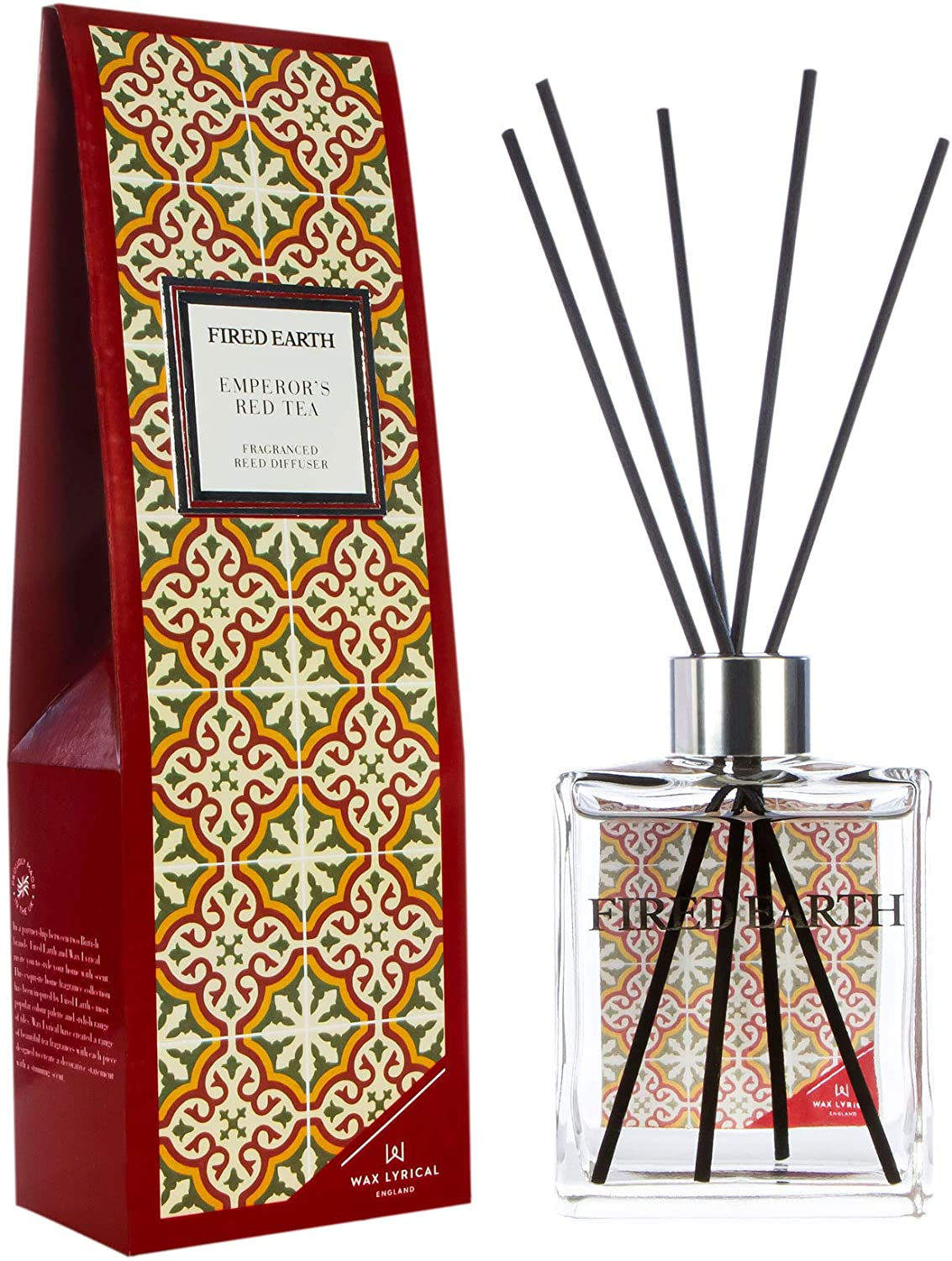 Wax Lyrical Fired Earth Emperors Red Tea Reed Diffuser, 180ml, Large