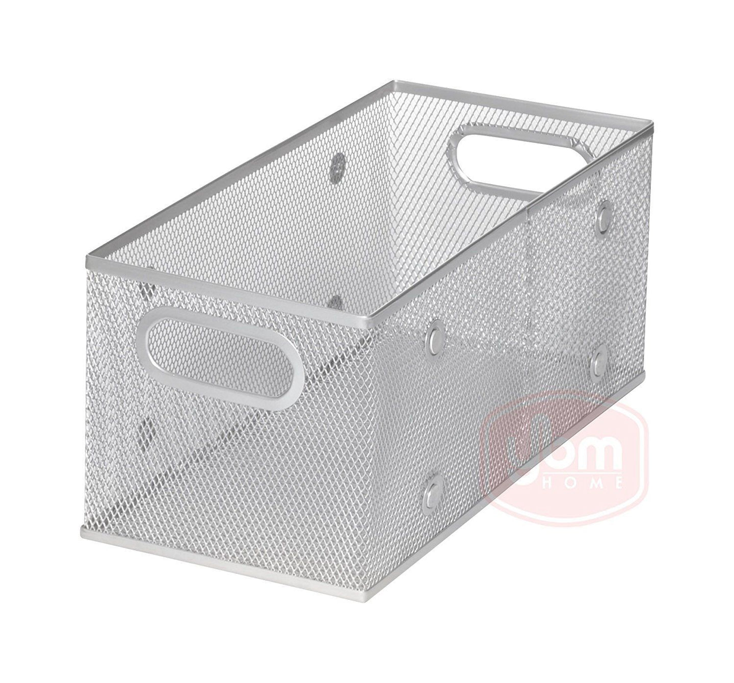 Household Wire Mesh Open Bin Shelf Storage Basket Organizer