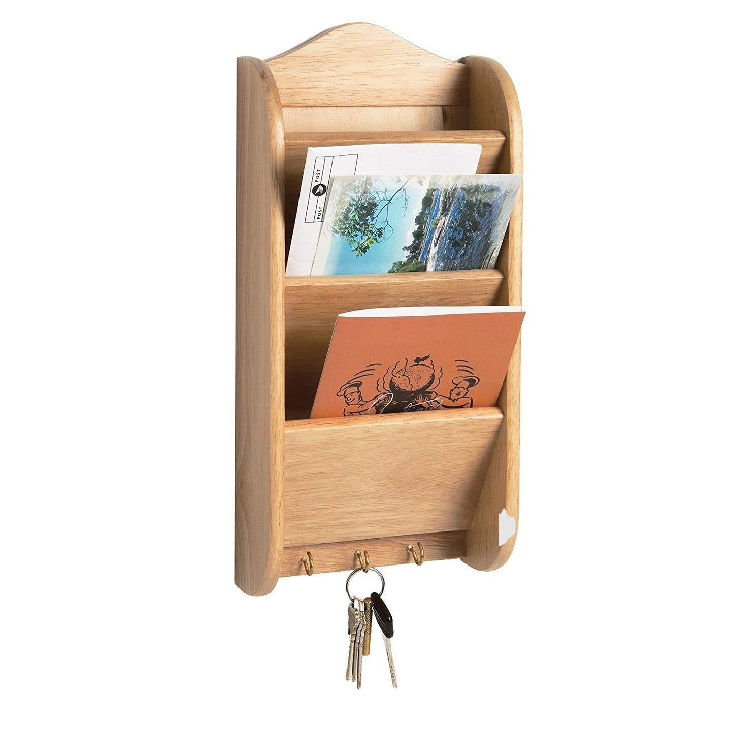 Fox Run Letter and Key Rack, Wood