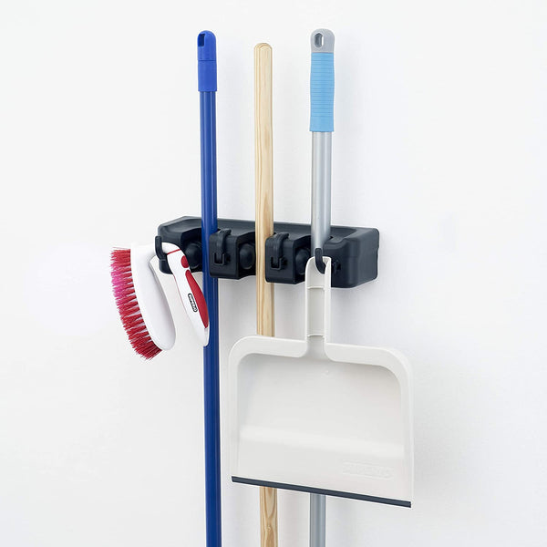Mop and Broom Organiser, Black