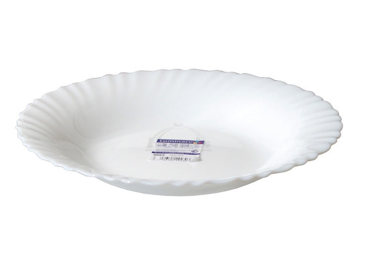 Rimless Soup Plate 21 cm Luminarc Serving Bowl White Porcelain Ceramic Dining