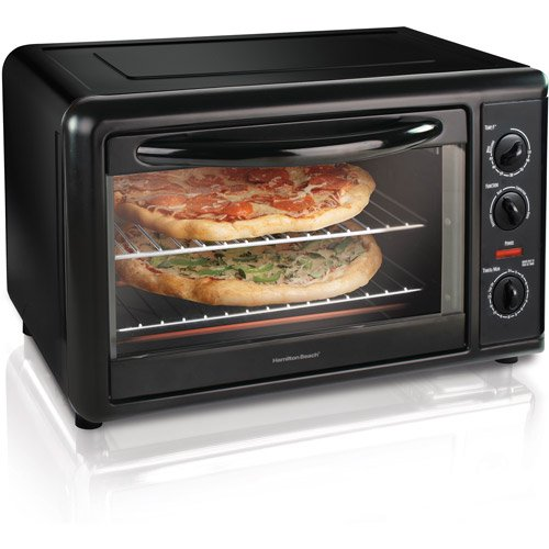 Hamilton Beach Black Countertop Oven with Convection & Rotisserie