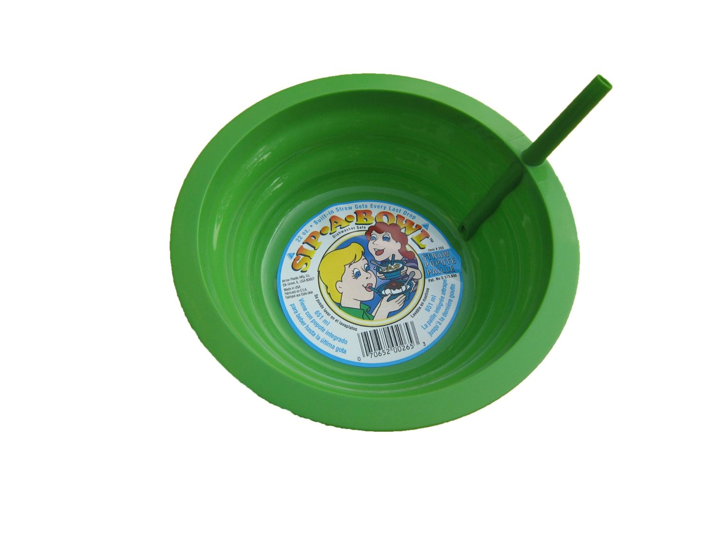 Sip-A-Bowl Cereal Bowl w/Built-In Straw