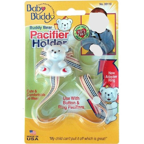 Baby Buddy Bear Universal Pacifier Holder Assorted Colors