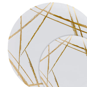 "Gold Brush 6"" Dinner Plate"