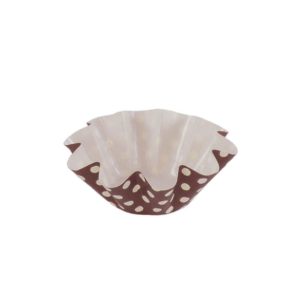 Medium Floret Cup - Brown/White (12pc)