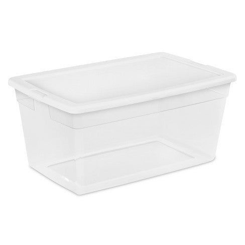 Sterilite 90qt Storage Bin Clear with White Lid
