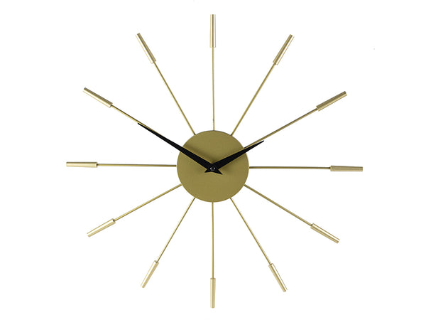 LOUISE 16IN CLOCK METAL, GOLD