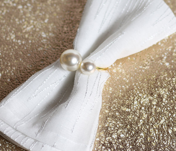 Gold Pearl Napkin Ring