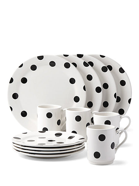 Kate Spade Deco Dot 12 piece Dinnerware Set