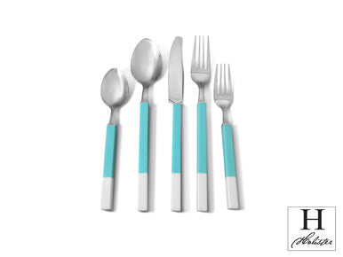 Northfield Teal Flatware Set Service for 4