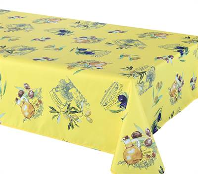 Primo Yellow Jaune Tablecloth 58X78