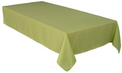 Solid Green Vert Tablecloth 54X72