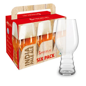 Spiegelau IPA Glass Beer Classics, Bonus Pack Sixpack, Set of 6