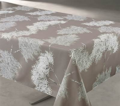 Vento Taupe Tablecloth 58X94