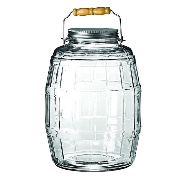 Anchor Hocking 2.5 Gallon Glass Barrel Jar With Lid