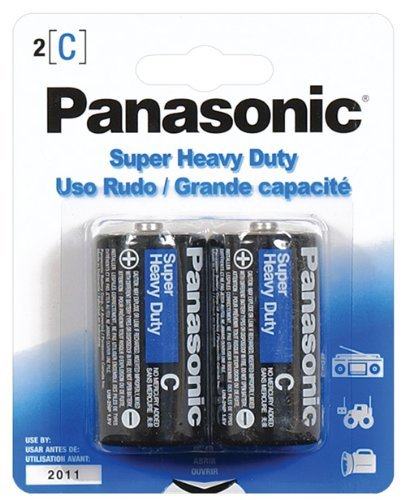 Panasonic  Super Heavy Duty C Batteries - 2 Pack