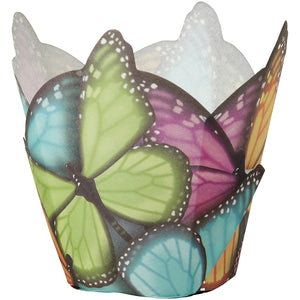 Wilton 15 Count Butterfly Specialty Standard Baking Cups, Multi