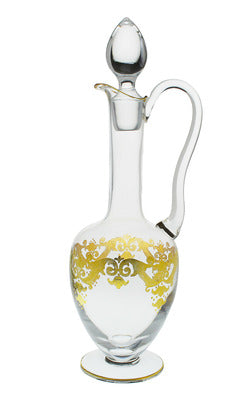 Classic Touch Wine Decanter with Handle with 24K Gold Artwork
