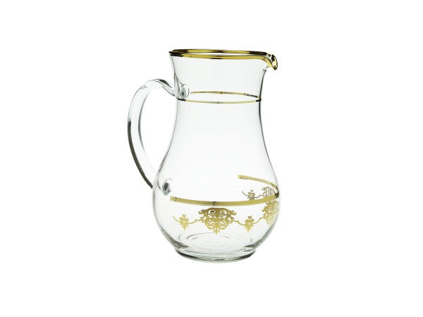 Water Pitcher with Rich Gold Designs