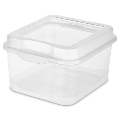 Sterilite Small Clear Flip Top Storage Box