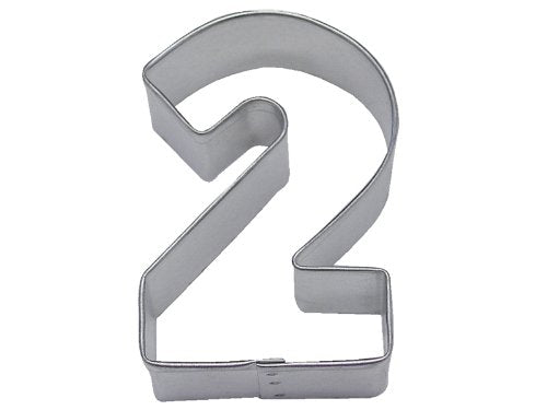 R & M Number 2 Cookie Cutter in Durable, Economical, Tinplated Steel