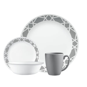 Corelle Boutique Modena 16-Piece Dinnerware Set, Service for 4