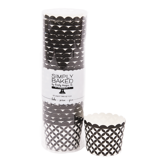 Black And White Baking Cups