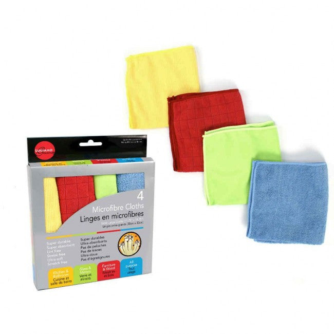 CTG Luciano Gourmet Microfibre Cleaning Cloth - Set of 4