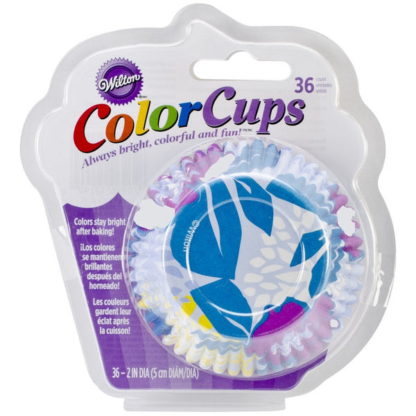 Wilton  36 Count Cool Flower Color Baking Cups, Standard