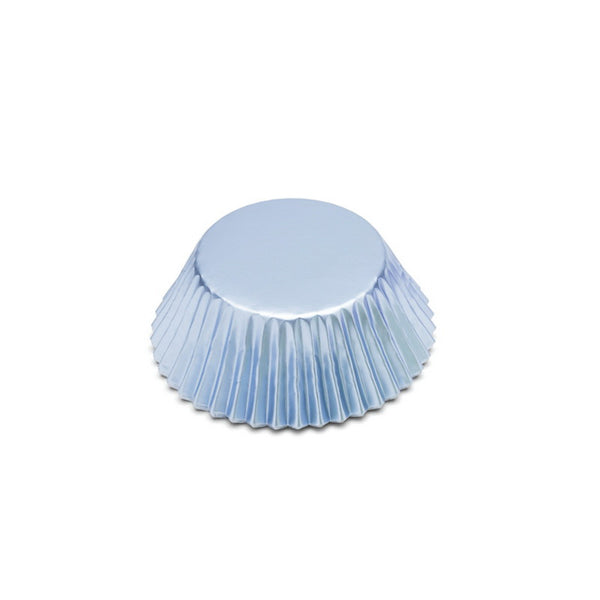 Fox Run Bake Cups Foil Light Blue, Reg, 32/Cnt
