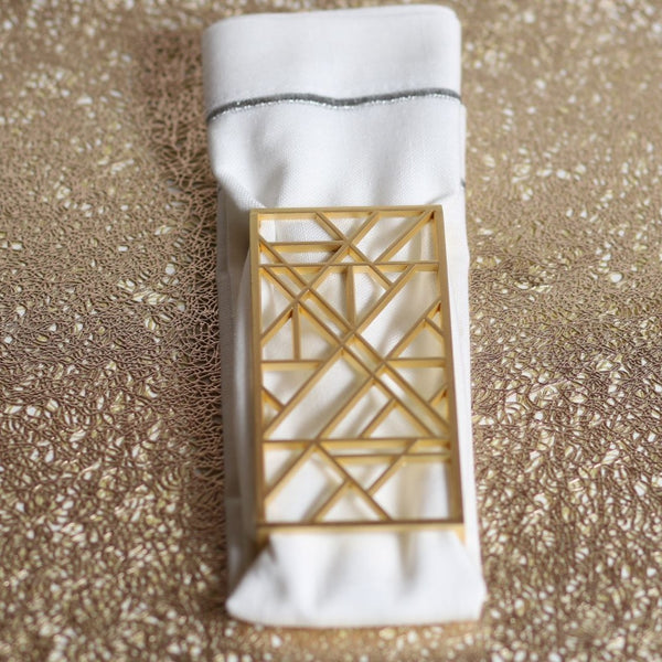 Geometric Napkin Wrap (ring)