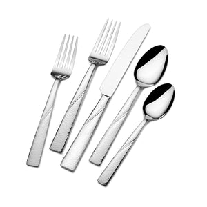 Gourmet Basics by Mikasa Barletta 20-Piece Stainless Steel Flatware Set, Service for 4