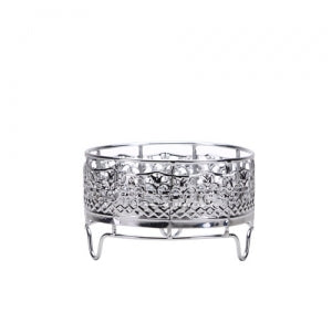 Elements - Decorative Container Holder - Small - Polished Silver