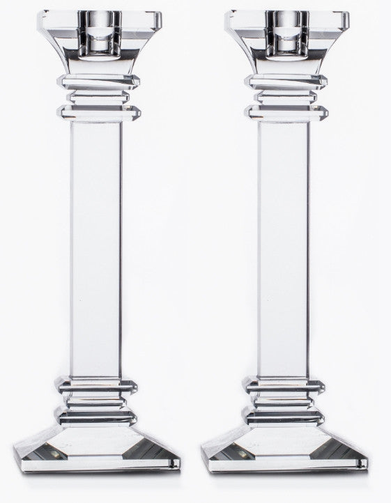Set Of 2 crystal Taper Candleholder