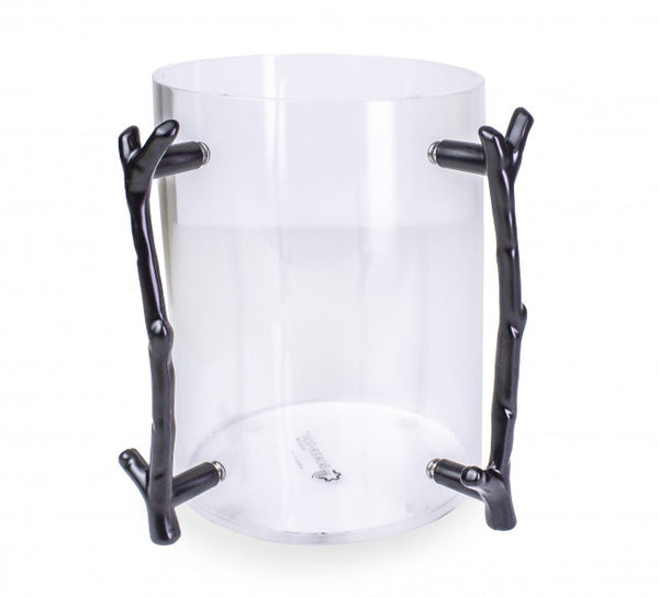 Lucite Wash cup W/ Black Branch Handle