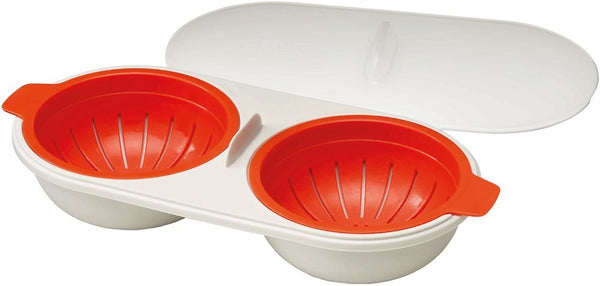 Joseph Joseph 7045008SO M-Cuisine Egg Poacher for 2, Orange