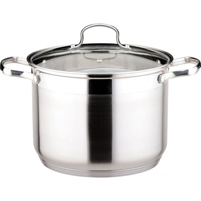 Le Stock Pot 18/10 16QT Stainless Steel Pot with Lid