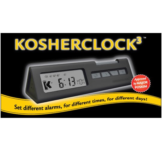 Kosher Clock 3 For Weekdays, Shabbos & Yom Tov And Travel
