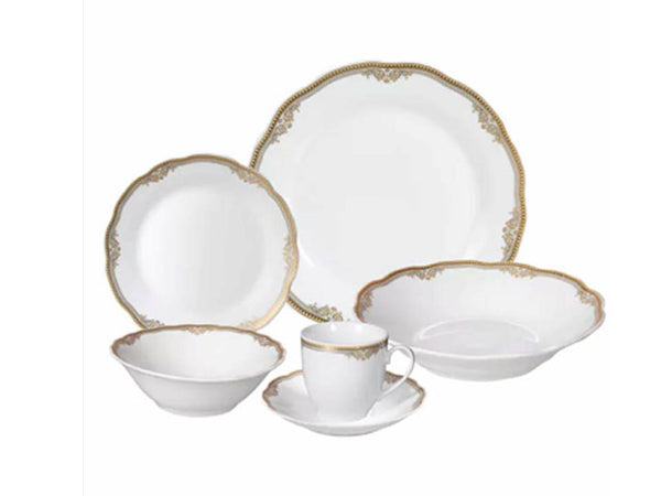 Catherine 24 Piece Porcelain Dinnerware Set, Service for 4