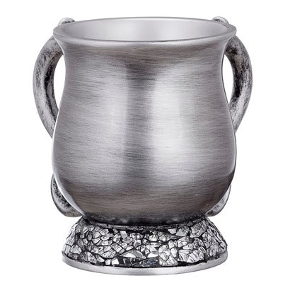 Polyresin Washing Cup Silver Stones Base