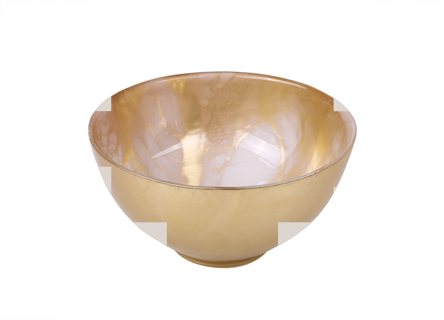 Gold-White Marble Bowl - 6