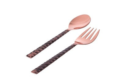 Classic Touch Copper Salad Server Set