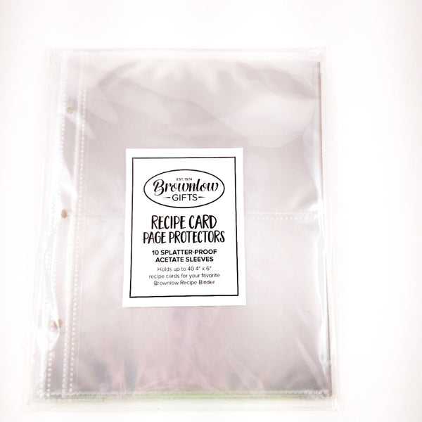 Universal Recipe Card Refill Sheets