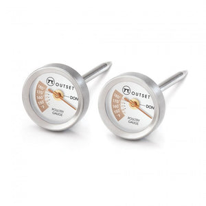 Outset BBQ Thermometer Chicken - Set of 2 (Stainless Steel)