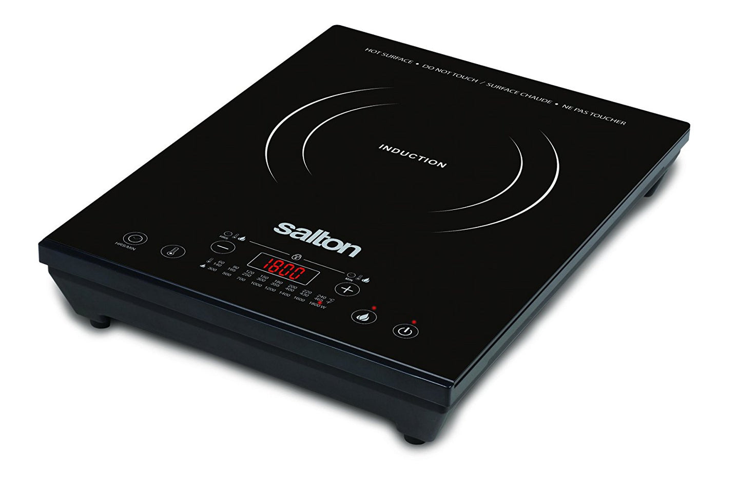 Salton Portable Induction Cooktop, Black