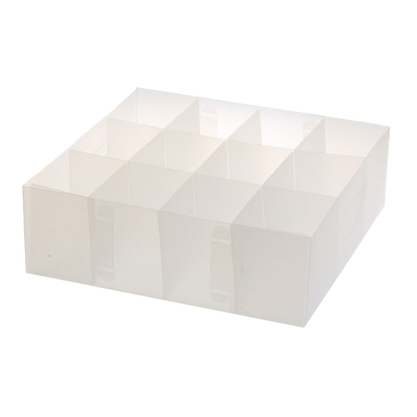 Ybmhome Foldable Organizer Cube Bin Frosty white 12 Section Clear