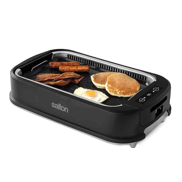 SALTON Smokeless Indoor BBQ GRILL / GRIDDLE Non-stick